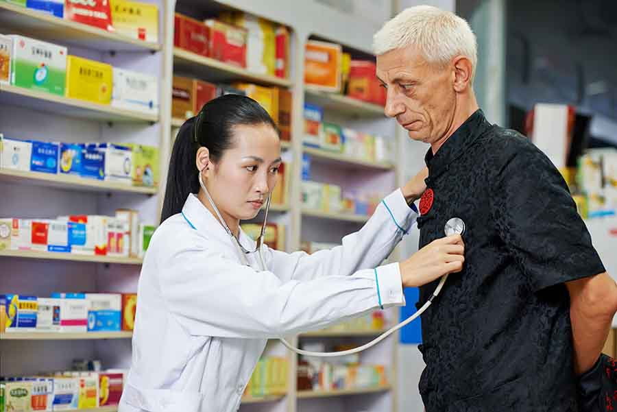 traditional chinese medicine pharmacist checkup