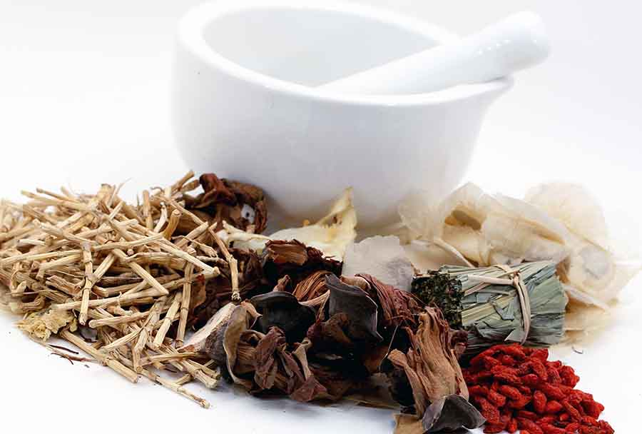 Various ingredients used in traditional chinese medicine